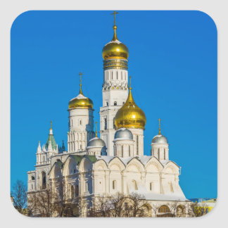 Moscow Kremlin cathedrals Square Sticker