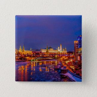 Moscow Kremlin Illuminated Button
