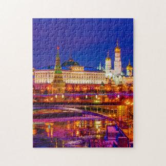 Moscow Kremlin In Winter Night Jigsaw Puzzle
