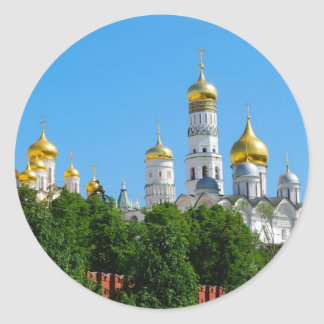 Moscow Kremlin Round Sticker
