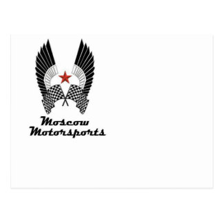MOSCOW MOTORSPORTS POSTCARD