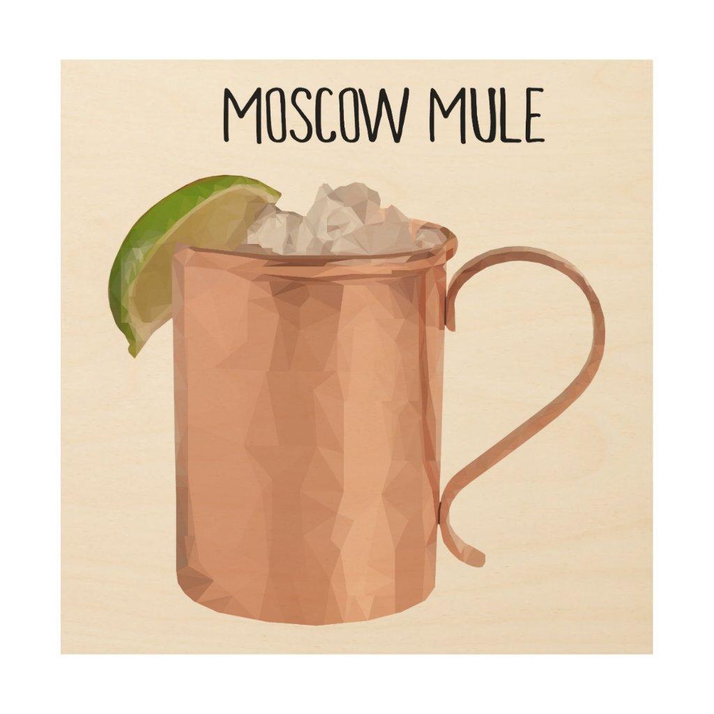 Moscow Mule Copper Mug Low Poly Geometric Art