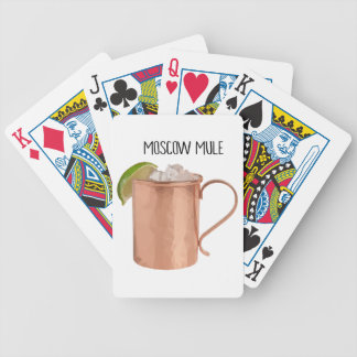 Moscow Mule Copper Mug Low Poly Geometric Design Bicycle Playing Cards