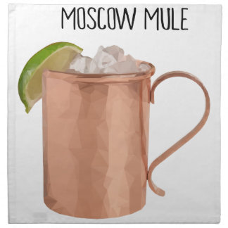 Moscow Mule Copper Mug Low Poly Geometric Design Napkin