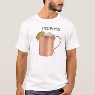 Moscow Mule Copper Mug Low Poly Geometric Design T-Shirt
