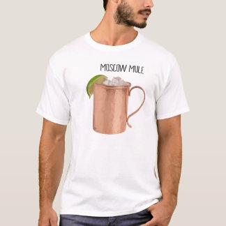 Moscow Mule Copper Mug Low Poly Geometric Design T-Shirt
