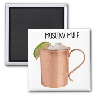 Moscow Mule Copper Mug Vodka Lime Cocktail Magnet