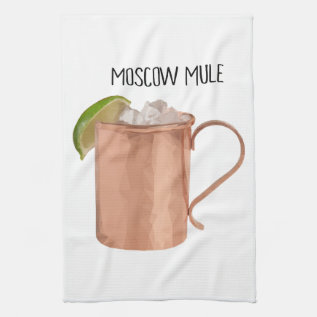 Moscow Mule Kitchen Towel Geometric Low Poly Art at Zazzle