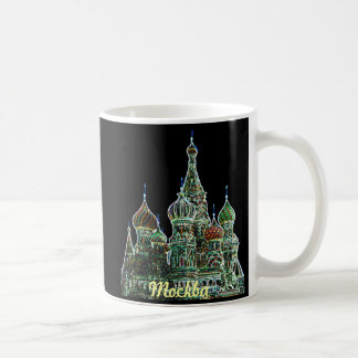 Moscow Neon Classic White Coffee Mug
