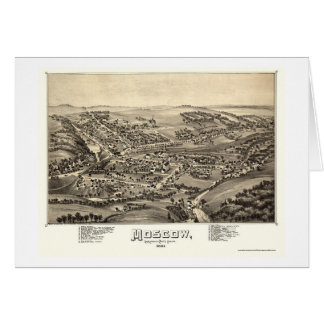 Moscow, PA Panoramic Map - 1891 Greeting Card