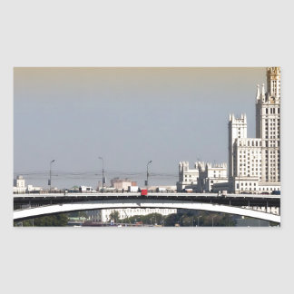 Moscow Rectangular Sticker