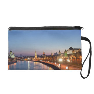 Moscow River at Dusk Wristlet Purse