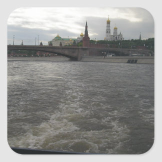 Moscow River Square Sticker
