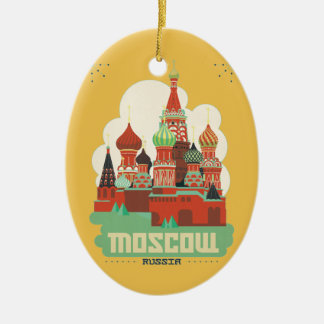 Moscow Russia Ceramic Ornament