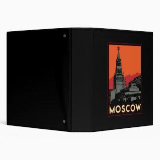 moscow russia kremlin art deco retro travel 3 ring binder