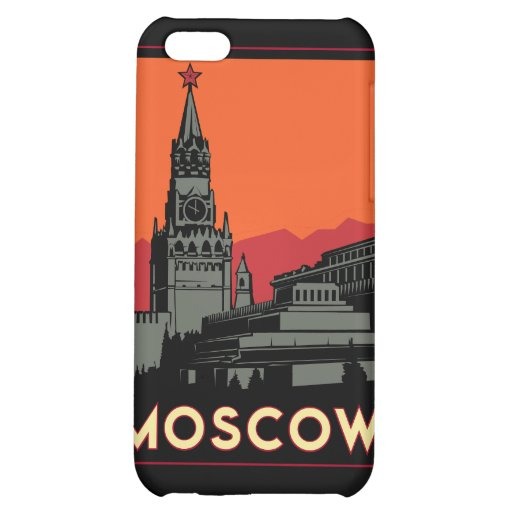 moscow russia kremlin art deco retro travel cover for iPhone 5C