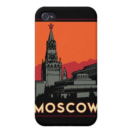 moscow russia kremlin art deco retro travel iPhone 4 cover