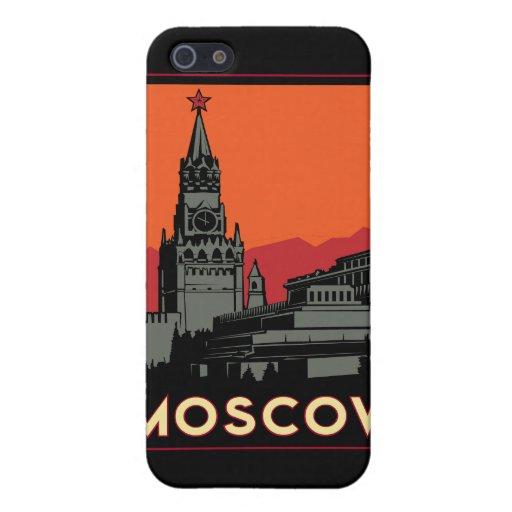 moscow russia kremlin art deco retro travel iPhone 5 covers