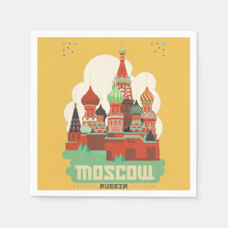 Moscow Russia Paper Napkin