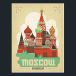 "Moscow, Russia Postcard<br><div class=""desc"">Anderson Design Group is an award-winning illustration and design firm in Nashville,  Tennessee. Founder Joel Anderson directs a team of talented artists to create original poster art that looks like classic vintage advertising prints from the 1920s to the 1960s.</div>"