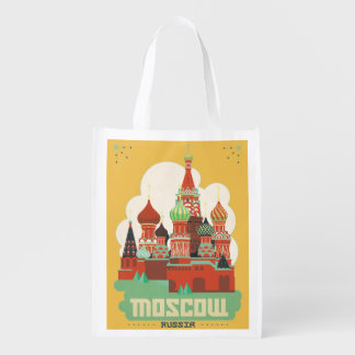 Moscow Russia Reusable Grocery Bag
