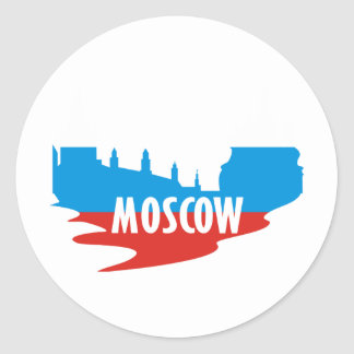 Moscow Round Stickers