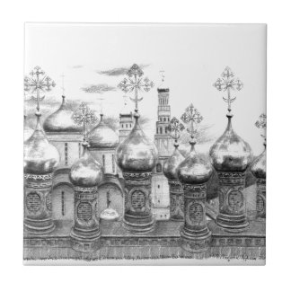 Moscow the Kremlin design by Schukina g048 Tile