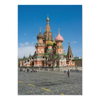 """Moscú, catedral de la Santo-Albahaca Invitación 5"""" X 7"""""""