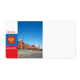 Moscú el Kremlin Etiqueta De Envío