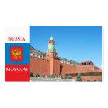 Moscú el Kremlin Plantillas De Tarjetas De Visita