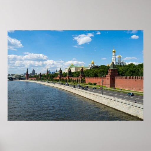 Moscú el Kremlin Poster