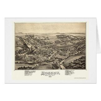 Moscú, mapa panorámico del PA - 1891 Tarjeta De Felicitación