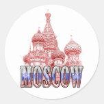 Moscú Pegatina Redonda