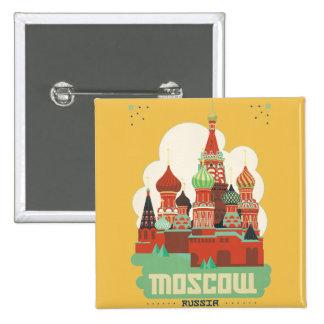 Moscú Rusia Pin Cuadrada 5 Cm