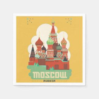 Moscú Rusia Servilletas De Papel