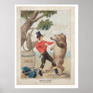 Mose en California: Sistema-con a un oso (1475) Póster