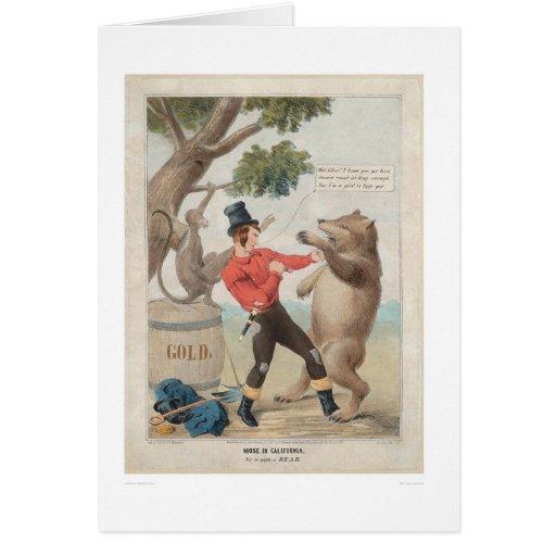 Mose en California: Sistema-con a un oso (1475) Tarjeta De Felicitación