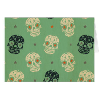 mose green,halloween,pattern,skulls,cute,scary,kid stationery note card