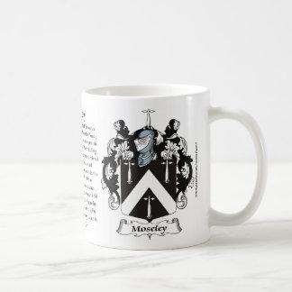 Moseley Family Coat of Arms Mugs