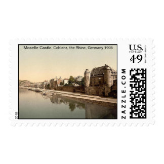 Moselle Castle, Coblenz, the Rhine, Germany 1905 Postage