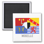 Moselle flag with name magnet