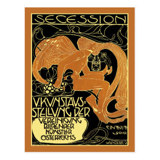 Moser Art Postcard:  Vienna Secession Art Exhibit Postcard