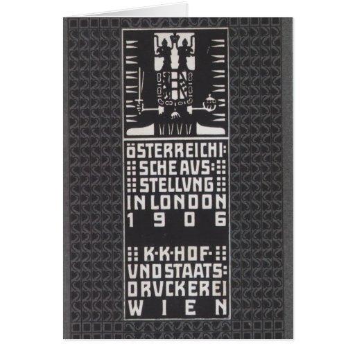 Moser-Catálogo de Koloman de la exposición austría Tarjeton