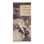 Moser-Ejemplo de Koloman al poema por Arno Holz. Tarjeta Publicitaria A Todo Color