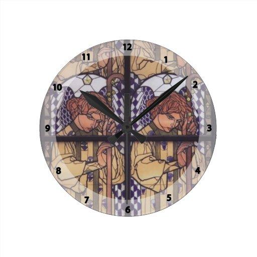 Moser-Iglesia Steinhof, dibujo de Koloman del ánge Reloj