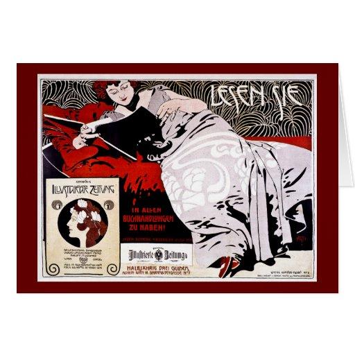 "Moser Kolo 1900 - Lesen Sie - ""me leyó "" Tarjeton"
