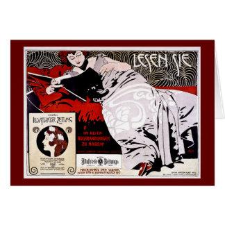 "Moser Kolo 1900 - Lesen Sie - ""Read Me"" Card"