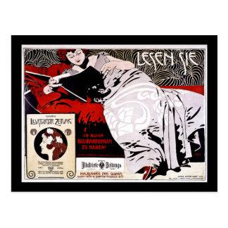 """Moser Kolo 1900 - Lesen Sie - """"Read Me"""" Postcard"""