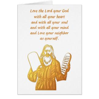 Moses - 10 Commandments - Greatest Commandment Card
