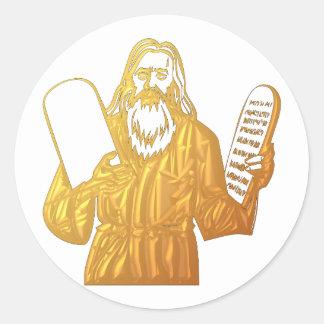 Moses - 10 Commandments - Greatest Commandment Classic Round Sticker